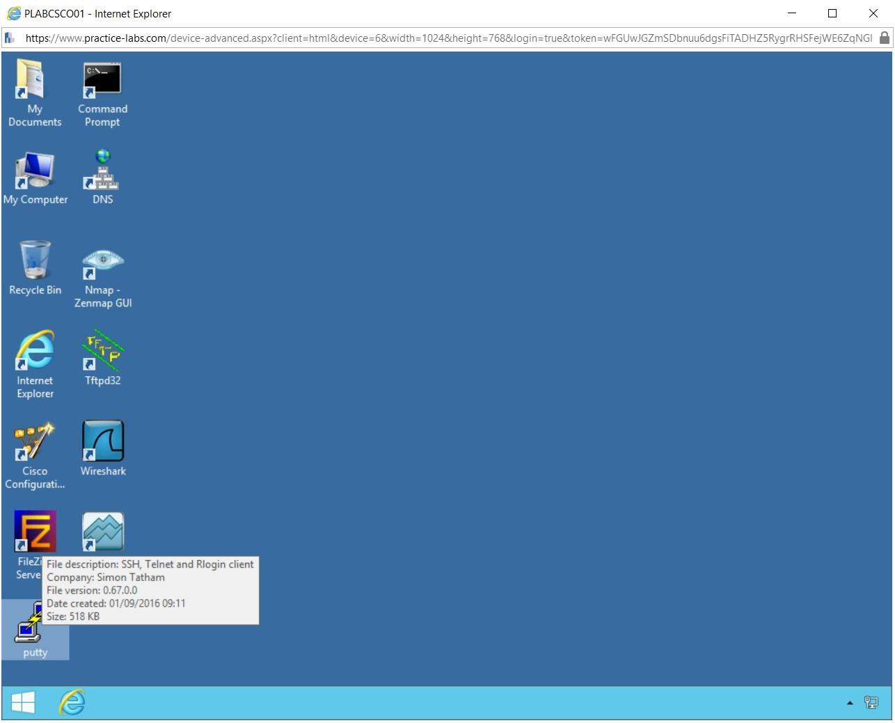 Figure 1.3 Screenshot of PLABCSCO01