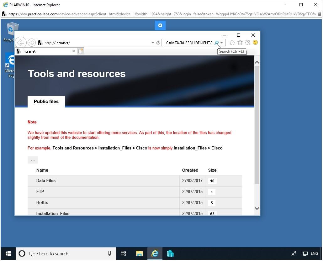 Hình 6.3 Ảnh chụp màn hình thiết bị PLABWIN10