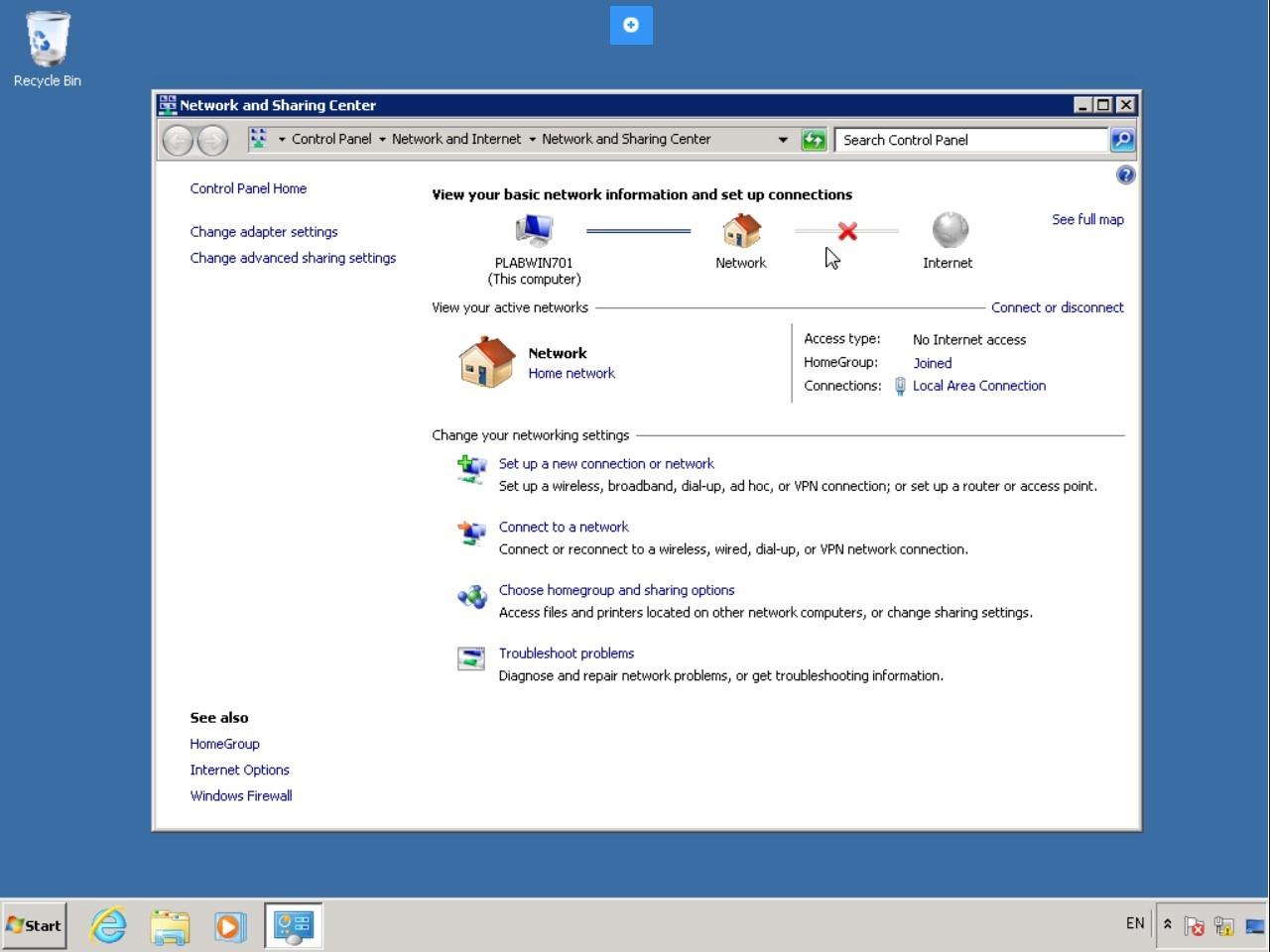 Hình 5.5 Ảnh chụp màn hình máy tính để bàn PLABWIN701