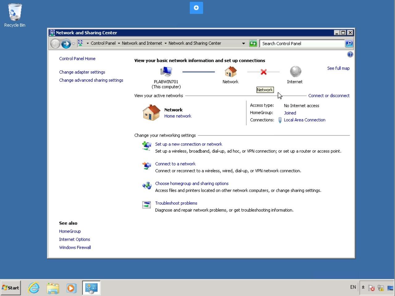 Hình 5.6 Ảnh chụp màn hình máy tính để bàn PLABWIN701