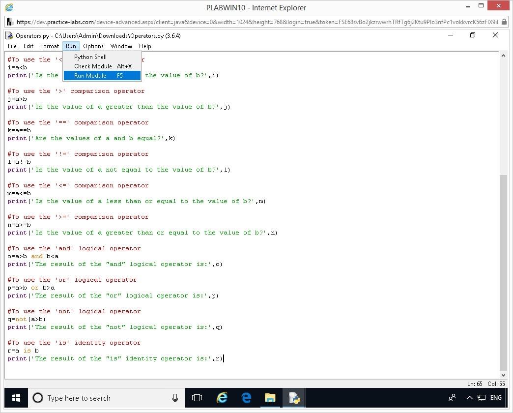 Hình 1.10 Ảnh chụp màn hình thiết bị PLABWIN10
