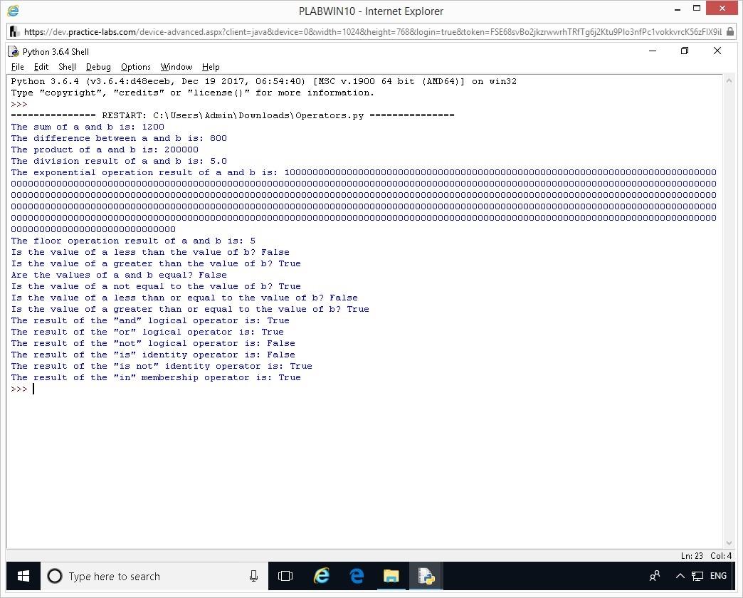 Hình 1.17 Ảnh chụp màn hình thiết bị PLABWIN10
