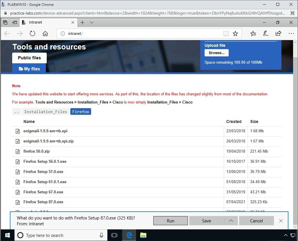 Hình 3.5 Ảnh chụp màn hình PLABWIN10